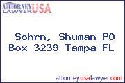 Sohrn, Shuman PO Box 3239 Tampa FL