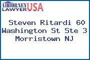 Steven Ritardi 60 Washington St Ste 3 Morristown NJ