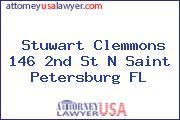 Stuwart Clemmons 146 2nd St N Saint Petersburg FL
