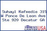 Suhayl Rafeedie 315 W Ponce De Leon Ave Ste 920 Decatur GA