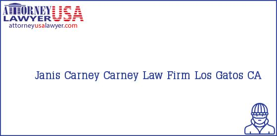Telephone, Address and other contact data of Janis Carney, Los Gatos, CA, USA
