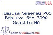 Emilia Sweeney 701 5th Ave Ste 3600 Seattle WA