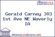 Gerald Carney 303 1st Ave NE Waverly IA