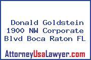 Donald Goldstein 1900 NW Corporate Blvd Boca Raton FL