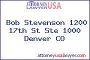 Bob Stevenson 1200 17th St Ste 1000 Denver CO