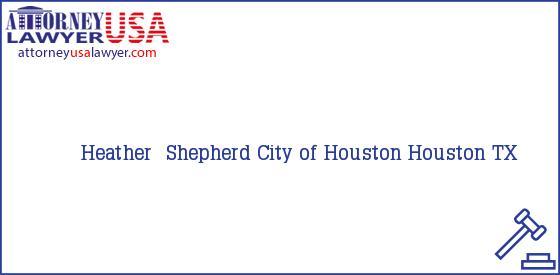 Telephone, Address and other contact data of Heather  Shepherd, Houston, TX, USA