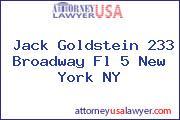 Jack Goldstein 233 Broadway Fl 5 New York NY