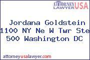 Jordana Goldstein 1100 NY Ne W Twr Ste 500 Washington DC