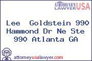 Lee  Goldstein 990 Hammond Dr Ne Ste 990 Atlanta GA