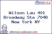 Wilson Lau 401 Broadway Ste 704B New York NY