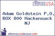 Adam Goldstein P.O. BOX 800 Hackensack NJ