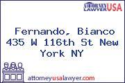 Fernando, Bianco 435 W 116th St New York NY