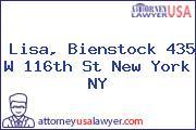 Lisa, Bienstock 435 W 116th St New York NY