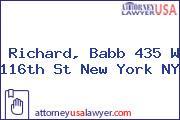 Richard, Babb 435 W 116th St New York NY