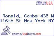 Ronald, Cobbs 435 W 116th St New York NY