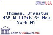 Thomas, Brasitus 435 W 116th St New York NY