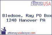 Bledsoe, Ray PO Box 1248 Hanover PA