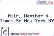 Muir, Heather 4 Times Sq New York NY