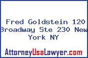 Fred Goldstein 120 Broadway Ste 230 New York NY