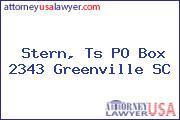 Stern, Ts PO Box 2343 Greenville SC