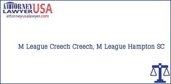 Telephone, Address and other contact data of M League Creech, Hampton, SC, USA