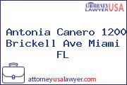 Antonia Canero 1200 Brickell Ave Miami FL