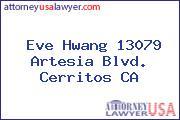 Eve Hwang 13079 Artesia Blvd. Cerritos CA