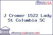J Cromer 1522 Lady St Columbia SC