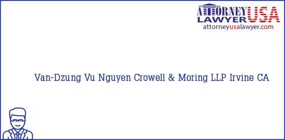 Telephone, Address and other contact data of Van-Dzung Vu Nguyen, Irvine, CA, USA