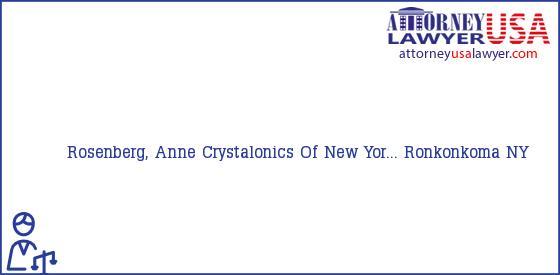 Telephone, Address and other contact data of Rosenberg, Anne, Ronkonkoma, NY, USA