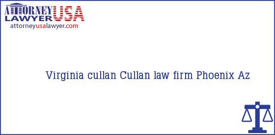 Telephone, Address and other contact data of Virginia cullan, Phoenix, Az, USA