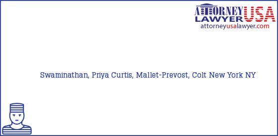 Telephone, Address and other contact data of Swaminathan, Priya, New York, NY, USA