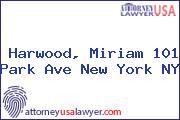 Harwood, Miriam 101 Park Ave New York NY