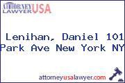 Lenihan, Daniel 101 Park Ave New York NY