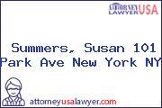 Summers, Susan 101 Park Ave New York NY