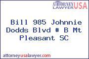 Bill 985 Johnnie Dodds Blvd # B Mt Pleasant SC