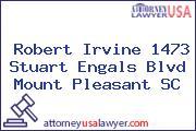 Robert Irvine 1473 Stuart Engals Blvd Mount Pleasant SC