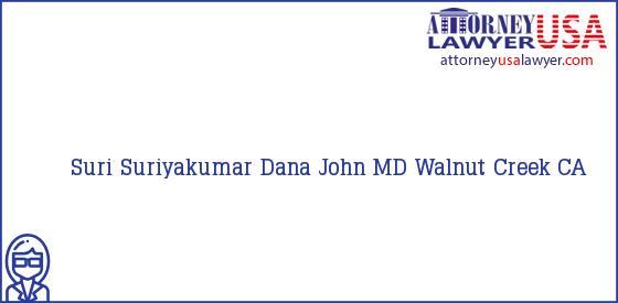Telephone, Address and other contact data of Suri Suriyakumar, Walnut Creek, CA, USA
