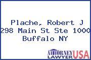 Plache, Robert J 298 Main St Ste 1000 Buffalo NY