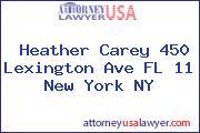 Heather Carey 450 Lexington Ave FL 11 New York NY