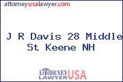 J R Davis 28 Middle St Keene NH