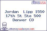 Jordan  Lipp 1550 17th St Ste 500 Denver CO
