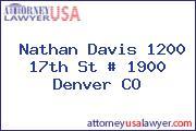 Nathan Davis 1200 17th St # 1900 Denver CO
