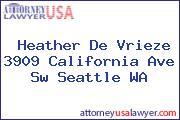 Heather De Vrieze 3909 California Ave Sw Seattle WA