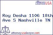 Roy Desha 1106 18th Ave S Nashville TN