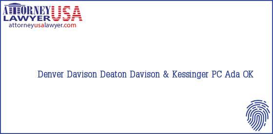 Telephone, Address and other contact data of Denver Davison, Ada, OK, USA