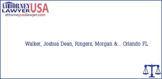 Telephone, Address and other contact data of Walker, Joshua, Orlando, FL, USA