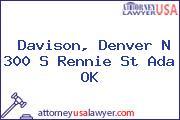 Davison, Denver N 300 S Rennie St Ada OK