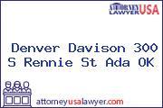 Denver Davison 300 S Rennie St Ada OK