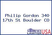 Philip Gordon 340 17th St Boulder CO